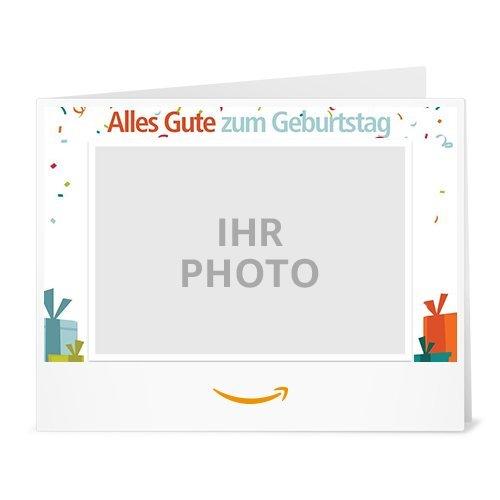 Amazon.de Gutschein zum Drucken mit eigenem Foto (Geburtstagswünsche)