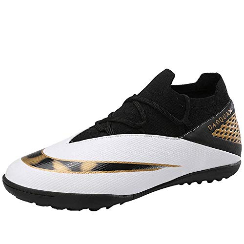 Niber TF Youth Turf Soccer Shoes Turf Football Boots High Tope for Kids Boys Indoor Athletic Shoes