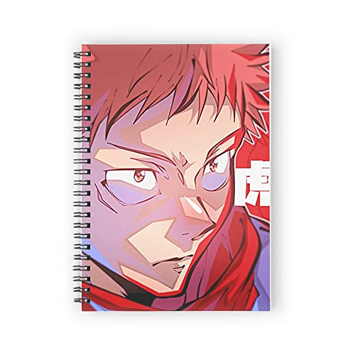 4K Yuji Iradori from Jujutsu Kaisen Spiral Notebooks 160 Pages, Pages with Premium Thick Paper, Strong Twin-Wire Binding for College Students and Office