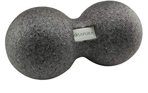 SAPURA Faszienball Duo ✓ Peanut Massageball ✓ Triggerpunktmassage Doppelball Rolle Rücken