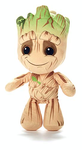 Licensed Baby Groot Collection 4-way 36cm Plush - With flowerpot, Evil in suit, In suit with Awesome Mix Vol.2, Baby Groot (Baby Groot)