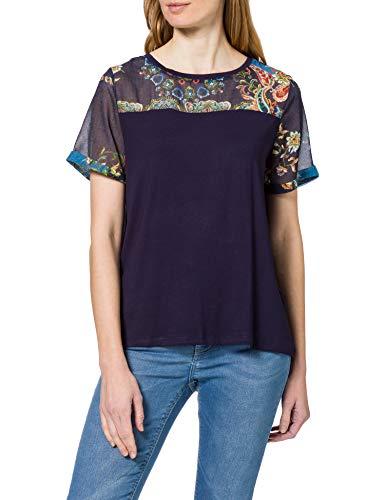 Desigual TS_Viena Camiseta, Azul, S para Mujer