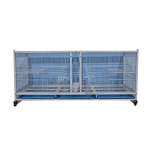 Aves de jaula de pájaros Suministros para mascotas con ruedas universales Adecuadas para pájaros pequeños utilizados como nido para palomas de homing adecuadas para la mayoría de las jaulas de pájaros