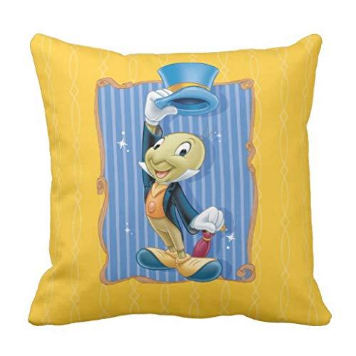Meg121ace Jiminy Cricket tillen zijn hoed gooien kussensloop