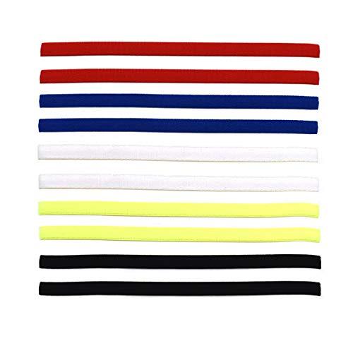 Xiuyer 10 Stück Sport Stirnbänder Antirutsch Elastische Sport Haarbands Mini Headbands für Damen und Herren Fußball Yoga Laufen Jogging Workout(5 Farben)