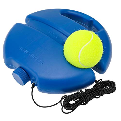 Auidy_6TXD Tennisball Trainer Tennis Baseboard mit Einem Seil und 1 Trainingsball Selbststudium Tennis Rebound Power Base Training Tool