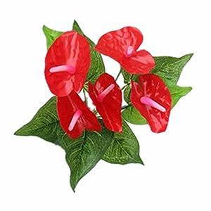Mynse Silk Flowers for Home Offcie Wedding Decoration Props Artificial Flower Bouquet