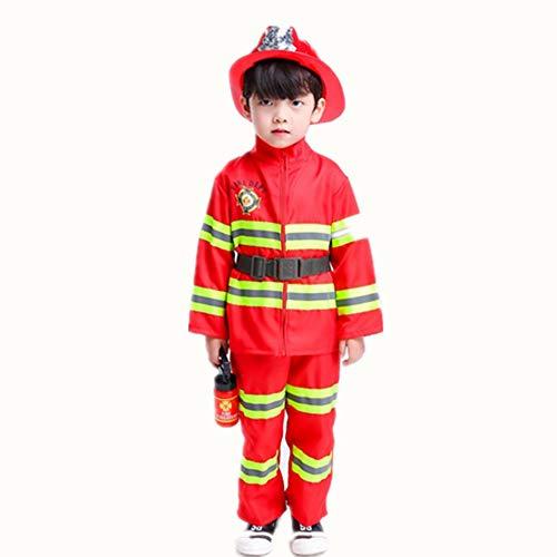 Proumhang Disfraz de Jefe de Bomberos Disfraz Halloween Traje Bomberos para Nios