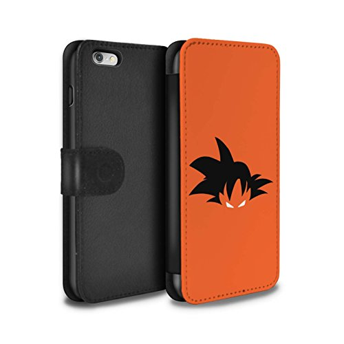 eSwish PU Cuero Funda/Carcasa/Folio/Cover en para el Apple iPhone 6S+/Plus/Serie: Luchador de Anime - Goku Inspired