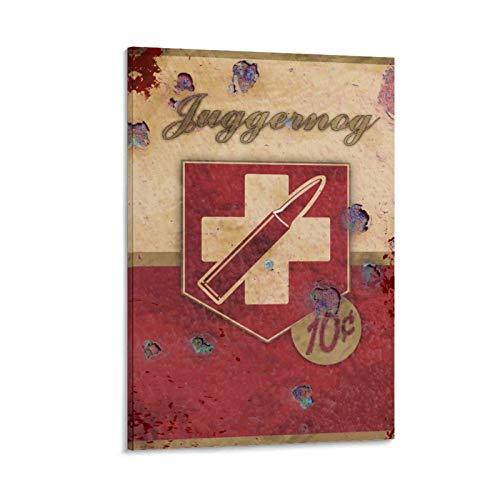 XIAOFU Juggernog Perk-Retro Kunst-Poster auf Leinwand, Kunst-Poster und Wandkunst, Bild, moderne Familie, Schlafzimmer, Dekoration, 20 x 30 cm