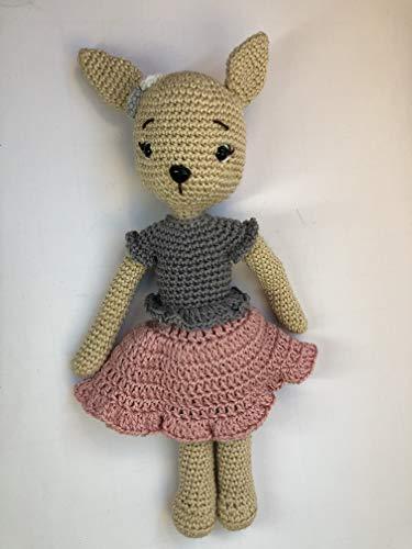 Peluche lapin 26cm crochet en coton pour enfant
