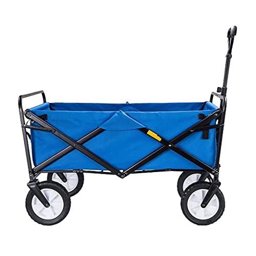 Z-SEAT Carro utilitario Plegable para Exteriores Carro Plegable para Acampar, Carro de jardín Resistente, Carro utilitario portátil, asa Ajustable, Carga 60 kg / 132 LB