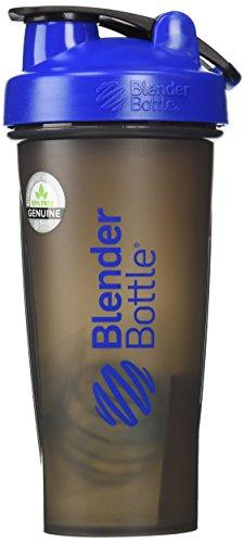 BlenderBottle Full Color Bottles - New Black Translucent Color with Shaker Ball - Blue - 28oz