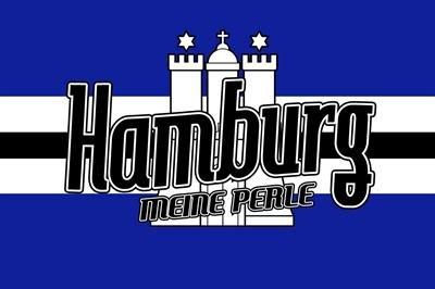 FRIP - Versand Fahne Flagge Hamburg MEINE PERLE Grösse 1,50x0,90m