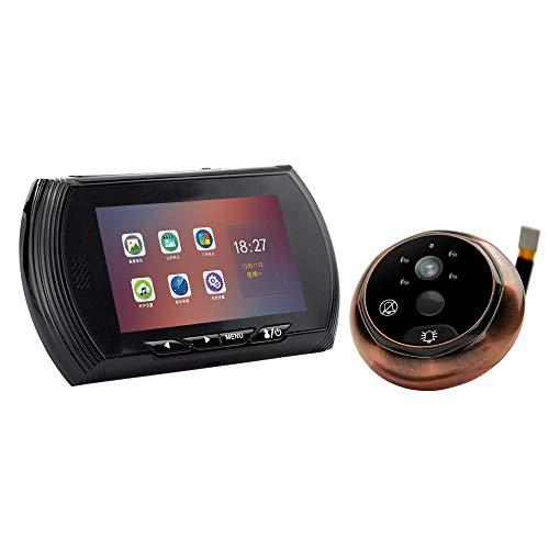 GNNHY YB-45AHD-M Video-Eye 4.3Inch TFT LCD Deurbel Beveiliging Deur Camera Video Bewegingsdetectie Smart Elektronische Kat Oog Deurbel
