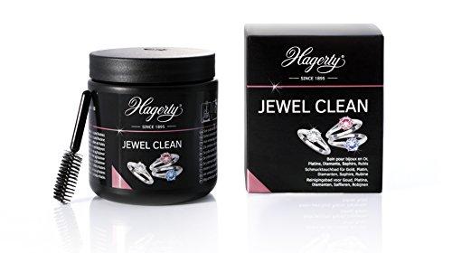 Hagerty Jewel Clean Bain qui Nettoie/Prend Soin des Bijoux/Pierres Précieuses Maxi Brillance Action Rapide, Noir, 1 Unité