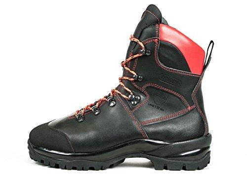 OREGON Schnittschutzstiefel WAIPOUA Schnittschutzklasse 1 schwarz/rot Größe 43