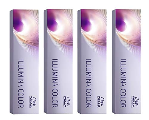 4er Wella Professionals Illumina Color 10/69 Hell Lichtblond Violett Cendre 60 ml