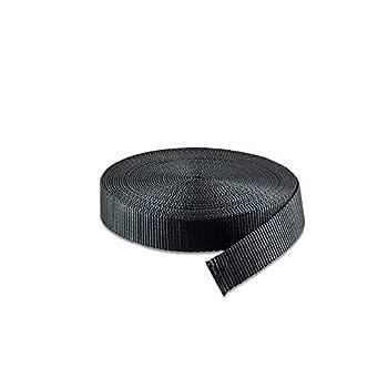 RETON 15mm de Large 10 Verges Courroie en Nylon Noir Heavy