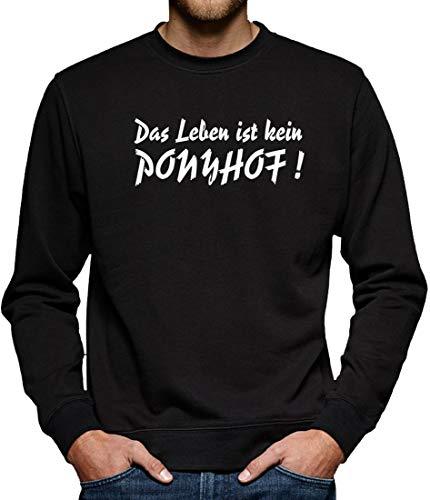 TShirt-People Die Leben ist kein Ponyhof Sweat-Shirt pour Homme - Noir - XXXX-Large