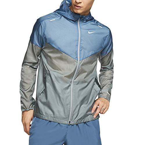 Nike Men's Windrunner Running Jacket SMOKE GREY/THUNDERSTORM/REFLECTIVE SILV M