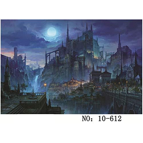 Dik papier 1000 stks legpuzzels lichtgevende wereld volwassenen kinderen speelgoed woondecoratie assembleren collectible puzzel speelgoed, Magic Castle