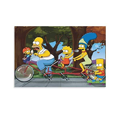 FINDEMO The Simpsons Leinwand-Kunst-Poster und Wandkunstdruck, modernes Familienschlafzimmer, 50 x 75 cm