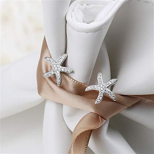 Pendientes de plata de ley 925 con diseño de estrella de mar, diseño de estrella de mar