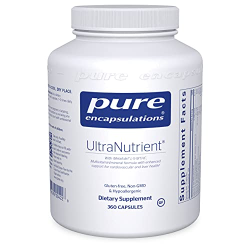 Pure Encapsulations UltraNutrient | Multivitamin Supplement to Support Liver, Cardiovascular Health, and Antioxidants* | 360 Capsules