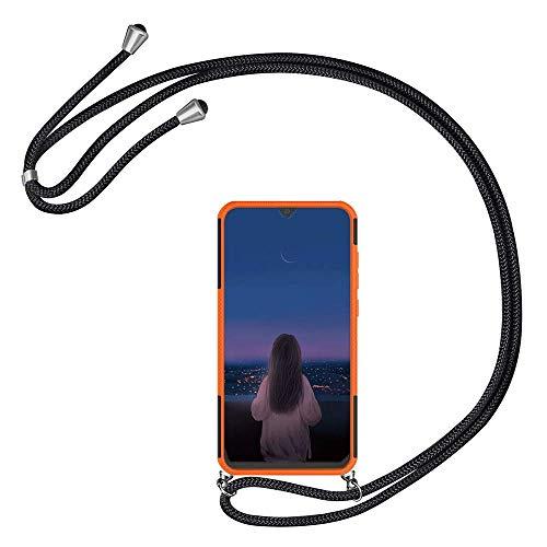 Kesv kompatibel mit Amazon Kider Fire HD 8 Tablet-Hülle mit Umhängeband Handykordel mit Schutzhülle Silikonhülle Hülle mit Band Stylische Kette mit Hülle Smarttablet