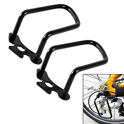 solawill 2 Stück Schaltwerkschutz Fahrrad Schaltwerk Schutz Schutzbügel Eisen Schutzfolien für Fahrrad Mountainbikes, Rennräder, Falträde Schwarz
