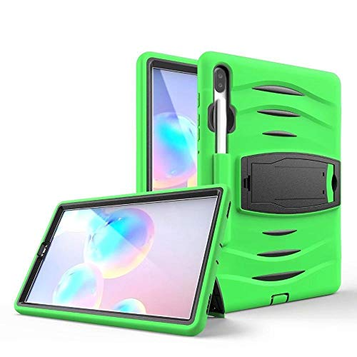 QiuKui Tab Cover For Samsung Galaxy Tab S6 10.5 2019 SM-T860 T865, Heavy Armor Pencil Case Shockproof Kids Silicone Cover for Samsung S6 T860 (Color : Green)