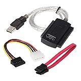 DIGIFLEX Cable conector adaptador SATA IDE 2.5, 3.5 a USB para disco duro HDD PC -SATA, disco duro...