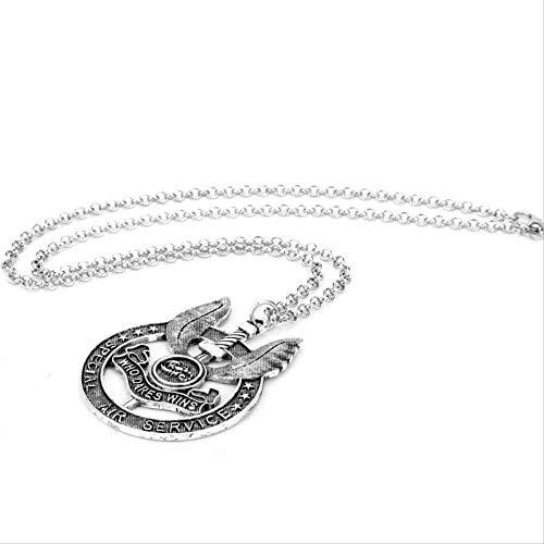 Yiffshunl Collar Mujer Collar Vintage Joyas British Special Air Mission SAS Logo Colgante Collar