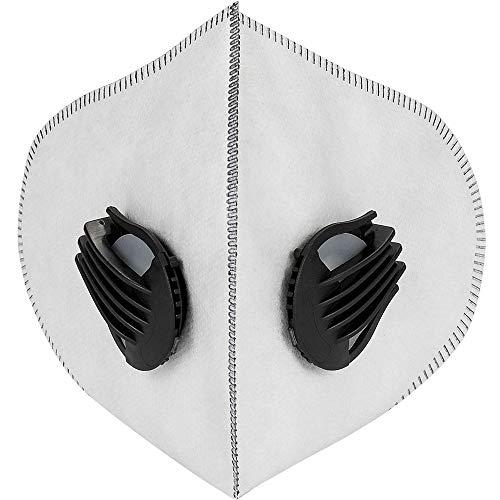 SKYSPER Staubmaske Atemmaske Fahrradmaske Verschluß Ventil Feinstaubmaske Fitnessmaske PM2.5 für Radsport Training (2pcs Filter) - 6