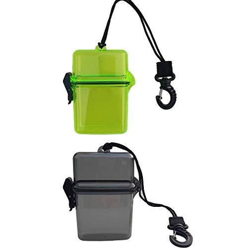 lahomia Caja Seca a Prueba de Agua de 2 Piezas con Cordón Y Clip para Barco de Vela de Kayak de Buceo