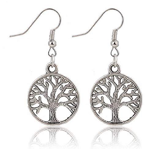 Orecchini con pendente - simbolo - albero della vita