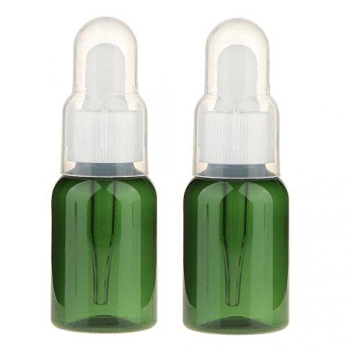 dailymall 8pcs Mini Bouteilles Vides 35ml Flacons Compte-Gouttes De Récipient Liquide D'huile Essentielle De Parfum Rechargeable