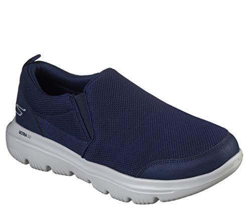 Skechers Go Evolution Ultra Splinter Performance Chaussures de marche pour homme, bleu (bleu marine/gris), 45.5 EU