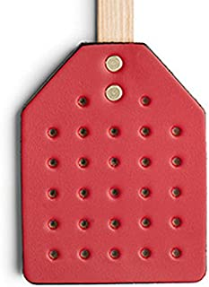 PrimeHomeProducts Amish Leather Fly Swatter with Wood Handle-Scarlet