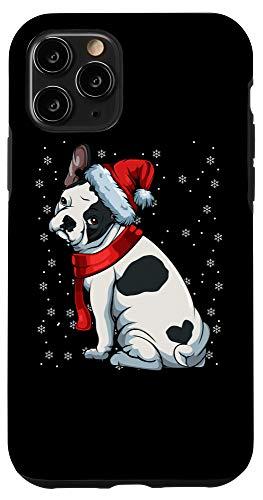 iPhone 11 Pro French Bulldog Frenchie Christmas Dog Dad Mom Santa Hat Gift Case