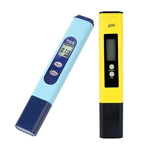 Digitales PH-Messgerät, Wasserqualitätstest-Messgerät TDS PH 2 in 1 Set, 0-9990 PPM Messbereich 1 PPM Auflösung 2% Auslesegenauigkeit