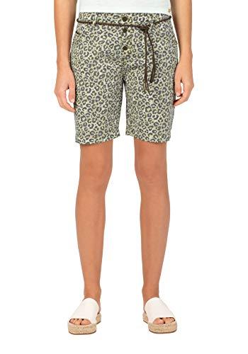 Timezone Damen Regular JillyTZ Shorts, Beige (Beige Leo 2314), W27(Herstellergröße: 27)