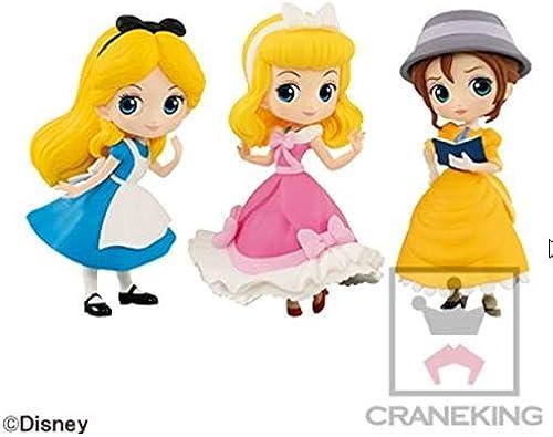 Disney Characters Q posket petit Alice Cinderella Jane 3 set Figure Figurine Japanese