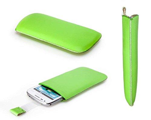 caseroxx Slide-Caso Custodia Protettiva per Samsung Galaxy Pocket Neo GT-S5310, Cover in Finta Pelle, Copertura in Colore Verde