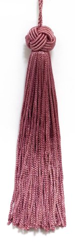 Set of 10 Dusty Rose Head Chainette Tassel, 14cm Long with 51mm Loop, Basic Trim Collection Style# BH055 Color: Dusty Rose - K13