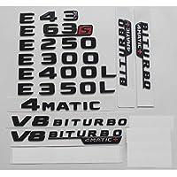 JIERS メルセデスベンツW212W213 E43 E63 E55 AMG E200 E220 E250 E300 E320 E350 E400 4MATIC、トランクエンブレムバッジ用