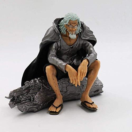 SXXYTCWL 13 cm animierte Figur Modell ONE Piece Pluto Silvers Rayleigh Meister von Luffy Action-Figur Sammlung Statue Dekoration A jianyou (Color : A)