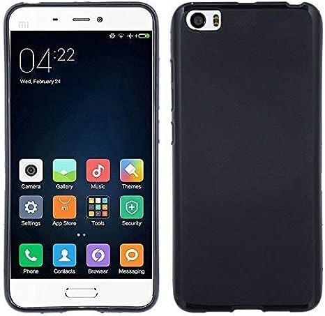 TPU Carcasa para Xiaomi MI5silicona móvil Bumper Accesorio Silicona Funda en negro @ Energmix