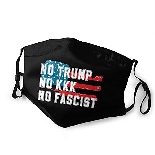 No Trump No Kkk No Fascist Usa Men And Women Washable Reusable Masks With Filter Dust Mask